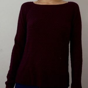 Lightly Used Knit Burgundy/Purple Sweater